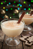 Eggnog traditional christmas celebration homemade Royalty Free Stock Photography