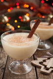 Eggnog traditional christmas egg, vanilla alcohol Stock Photography