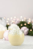 Eggnog with Whipped Cream Stock Image