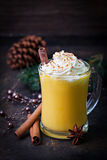 Eggnog with whipped cream Royalty Free Stock Photography
