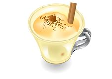 Eggnog on a white background Stock Photography