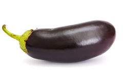 Eggplant. On white with soft shadow Stock Photo