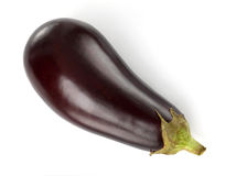 Eggplant. A fresh eggplant over white background royalty free stock photography