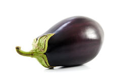 Eggplant. Fruit Isolated on White stock images