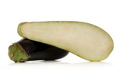 Eggplant. Isolated over white background Stock Photo