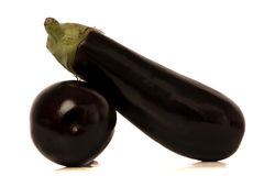 Eggplant. Isolated over white background Royalty Free Stock Images