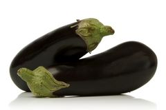 Eggplant. Isolated over white background Royalty Free Stock Image