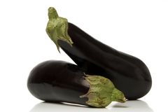 Eggplant. Isolated over white background Stock Images