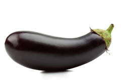 Eggplant. Or aubergine vegetable on white background. Clipping Path stock photo