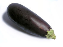 Eggplant. Closeup of ripe eggplant or aubergine isolated on white background royalty free stock photo