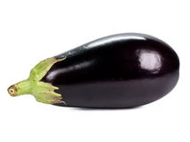 Eggplant. Black isolated on white Stock Images
