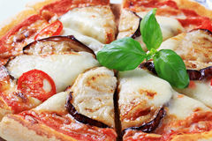 Eggplant And Cheese Pizza Royalty Free Stock Photo