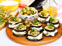 Eggplant appetizer Royalty Free Stock Images