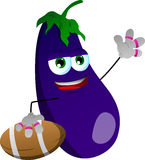 Eggplant as American football player Stock Photography