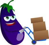 Eggplant as delivery man Stock Image