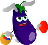 Eggplant as Easter bunny Royalty Free Stock Photography