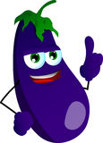 Eggplant with attitude Stock Images