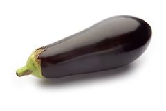 Eggplant or aubergine. Eggplant or aubergine on a white studio background Stock Photography