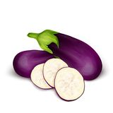 Eggplant aubergine isolated Stock Photo