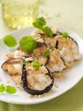Eggplant (aubergine) rolls Stock Photo