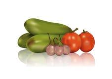 Eggplant, aubergine and Tomatoes Stock Photo