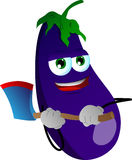 Eggplant with an axe Royalty Free Stock Photos