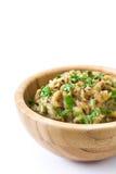 Eggplant baba ganoush in bowl isolated Stock Image