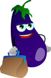 Eggplant with bag Royalty Free Stock Image