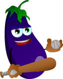 Eggplant Baseball player Royalty Free Stock Images
