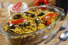 Eggplant Biryani - An Indian rice dish Royalty Free Stock Photography