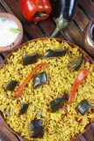 Eggplant Biryani - An Indian rice dish Royalty Free Stock Images
