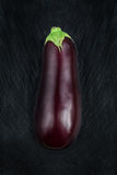 Eggplant on a black slate table Royalty Free Stock Photography