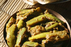 Eggplant/brinjal Podi Curry from India Stock Photo