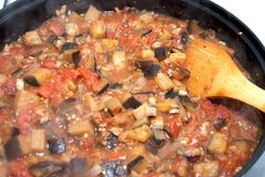 Eggplant Cacciatore Stock Photo