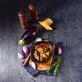 Eggplant Casserole - Melitzanes Me Kreas Sti Katsarola royalty free stock photo