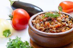 Eggplant caviar Stock Images