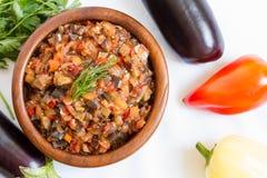 Eggplant caviar Stock Images