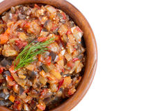 Eggplant caviar Stock Photography