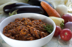 Eggplant caviar. Ukrainian cuisine Stock Photo