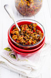 Eggplant caviar. On a white table Royalty Free Stock Images