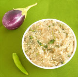 Eggplant chutney. Eggplant or brinjal chutney, which is used as a side dish for dishes like chapati and roti Royalty Free Stock Photography