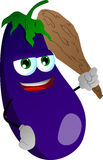 Eggplant with a club Stock Image