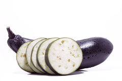 Eggplant and cross section Stock Images
