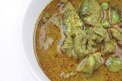Eggplant curry curry beef with spicy Thai food Stock Photo
