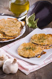Eggplant cutlets. Royalty Free Stock Photography