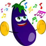 Eggplant with cymbals Stock Photo
