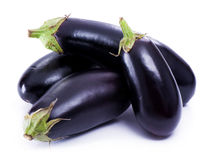 Eggplant. Fresh eggplant on white background royalty free stock images