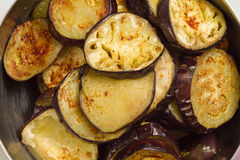 Eggplant fried Stock Images