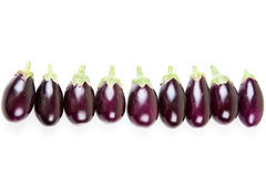 Eggplant fruit on white background with copyspace. Eggplant fruit against a white background with copyspace Royalty Free Stock Image