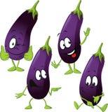 Eggplant - funny vector cartoon Stock Photo
